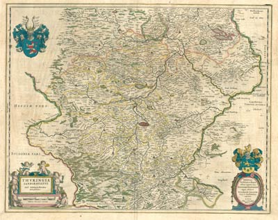 Blaeu 1645 - Thuringia_Land