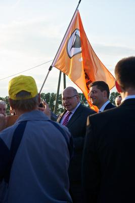Demo gegen Fracking besuchte Bundesumweltminister Peter Altmaier Wenigenlupnitz in Thüringen